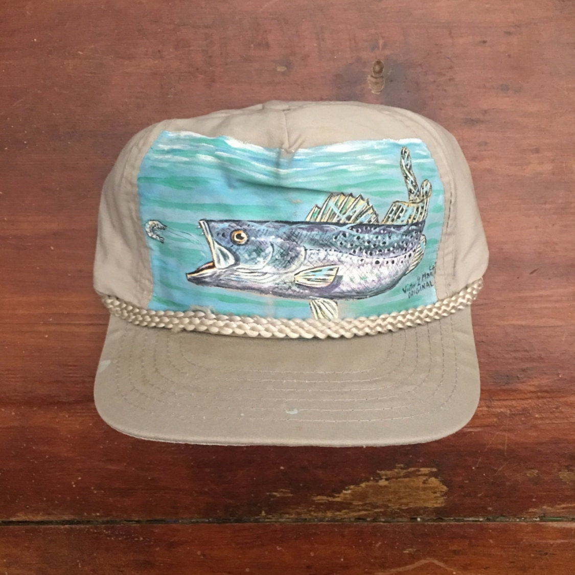 Vintage fishing trucker hat snapback baseball cap for Fishing trucker hats