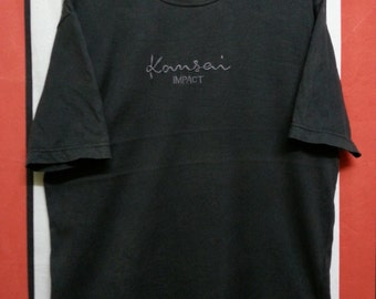 Clearance SALE!!!Vintage 90's//KANSAI IMPACT//Embroided Spell Out//Designer Kansai Yamamoto//Very Rare//