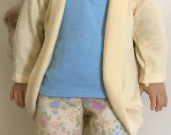 Doll clothes for 18 inch dolls such as American Girl dolls:  luxury pajamas