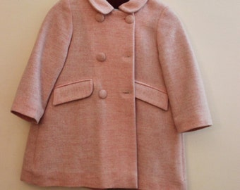 SALE 20% OFF Pink peacoat for girls - Size: 2 and 3 Years old