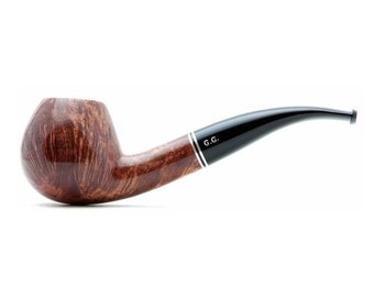 "Tobacco Smoking Pipe Briar  5,7"" NEW Unsmoked 9 mm filter Apple pipe, extra extra Briar, ebonite stem, excellent quality + GIFT"