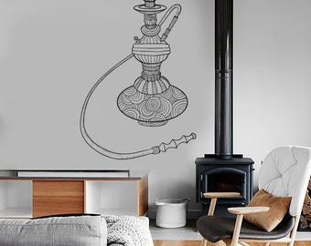 Wall Vinyl Hookah Shisha Smoking Cool For Bedroom Decal Mural Art 1612dz