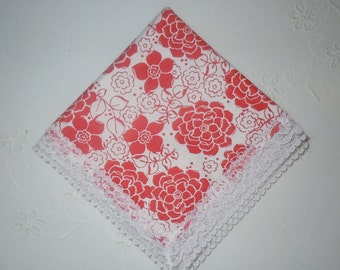 Red & White Ladies Handkerchief