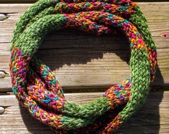 Fall Leaves Infinity Scarf
