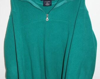 SALE 25% OFF Vintage Mens Sea Foam Green Lands' End Fleece Jacket
