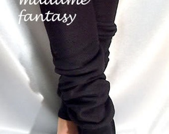 Fleece leg warmers black