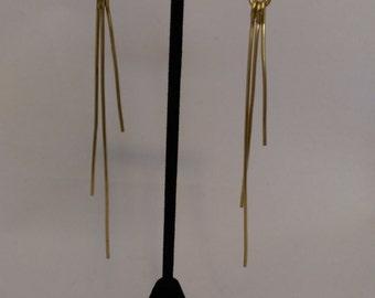 Brass twig earrings