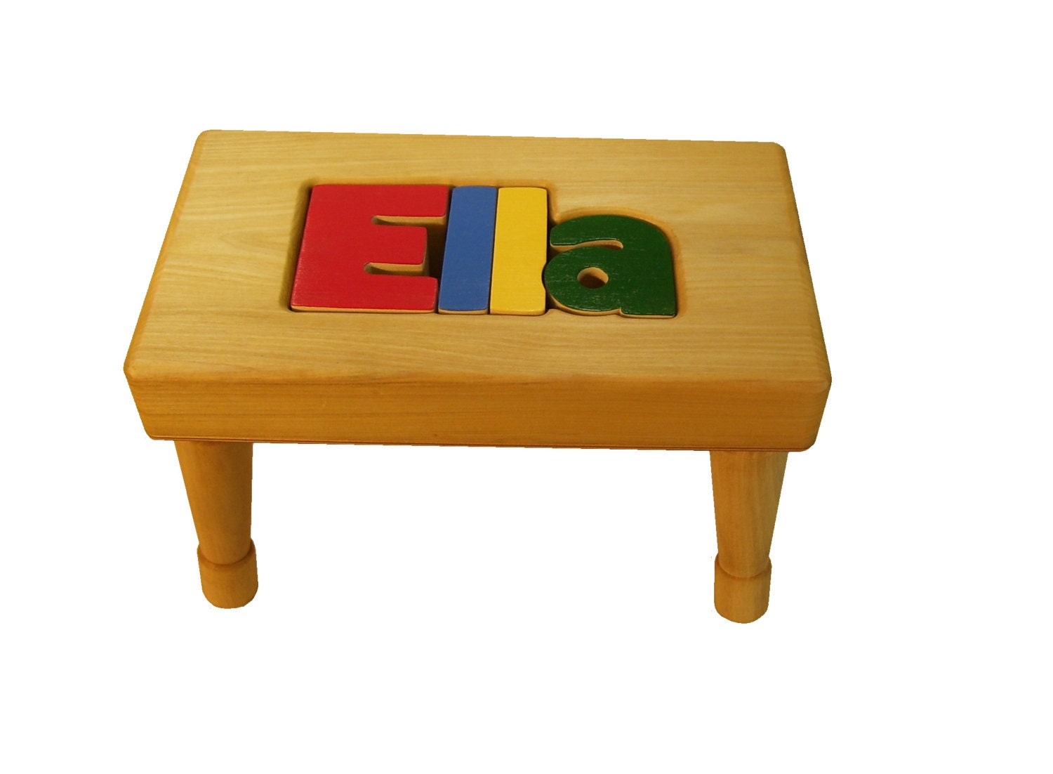 Personalized Puzzle Name Bench