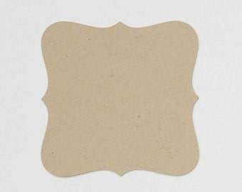 bracket cards (20) - FREE SHIPPING - pick your size of bracket shaped blank kraft paper 140lb cover weight cardstock art and craft supplies