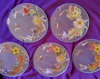 Vintage Glass Coasters