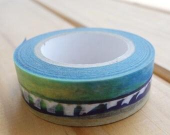 Fluttering tape.