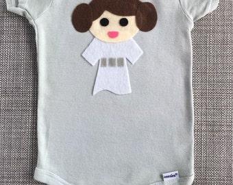 Princess Leia Star Wars Baby Bodysuit
