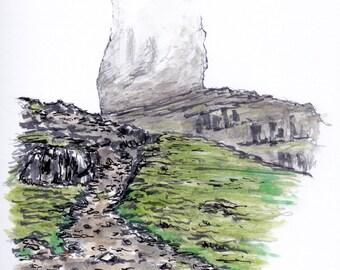 Scotland postcard, Isle of Skye, Old Man Of Storr