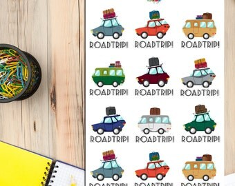 Road Trip Planner Stickers | Travel Trip Planning | Road Trip Stickers | Travel Stickers (S-092)