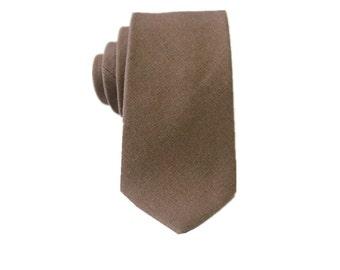 Brown Linen Tie. Mens Necktie.Brown Necktie.Mens Gifts.Gift Ideas