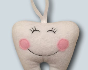 Cute Fleece Tooth Shape Pillow for Tooth Fairy