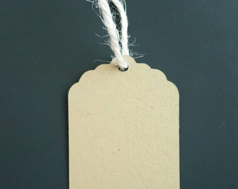 Gift Tags - kraft paper Gift Tags -price tags - favor tags- set of 25 - square gift tag - birthday note tag