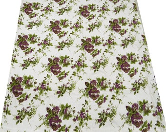 """Floral Printed Cotton Voile Fabric Indian Craft Fabric For Sewing 42"""" Wd Dress Making Material Apparel Craft Sewing Fabric By 1 Yard ZBC2600"""