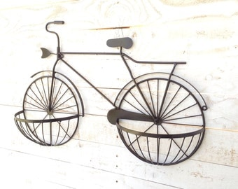 Iron Bike, Home Decor, For The Home, Wall Hanging, Wall Planter, Customize