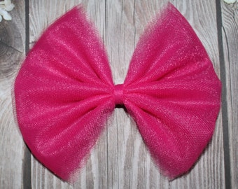 tulle hair bows etsy