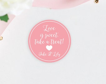 Personalized Wedding Favor Stickers, Custom Wedding Favor Labels, Stickers For Favors