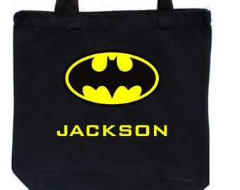 Custom Halloween Trick or Treat Bag Batman Themed