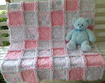 Rag Quilt for Baby Girl