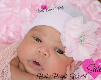 Newborn girl infant beanie hat cap . First flower beanie cap. Baby girl hat. Ballerina flower newbornhat beanie . Fashion newborn