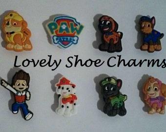 Paw Patrol Shoe Charms/Jibbitz (Set of 8) Kids Shoe Accessories
