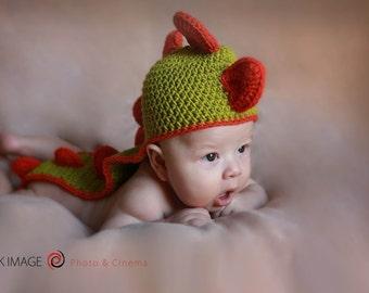 Dragon baby hat | Crochet Baby Hat | Baby boy, baby girl dragon hat | PHOTO PROP