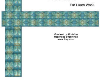 Blue Moth Bead Loom Pattern
