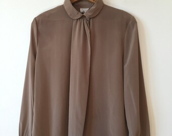 sandy brown long sleeve shirt