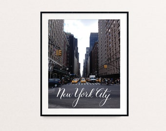 New York City Calligraphy Art Print | NYC Travel Photograph - Adventure Wanderlust Explore USA