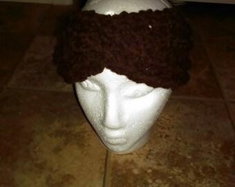 Crochet Headband/earwarmer.  Ribbed headband. Crossed headband