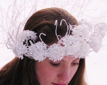 Fairy Crown- 22 '' AROUND- ''Frost Fairy'' Adult Crown-NEW PRICE!