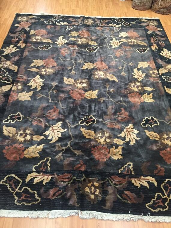 8' x 10' Indian Nepal Oriental Rug - Hand Made - 100% Wool - Modern Design