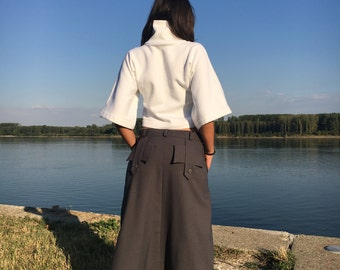 Harem Pants, Extravagant Pants, Loose Wool Trousers, Drop Crotch Trousers, Wool Harem Pants, Winter Pants, Casual Pants, Avant Garde Pants