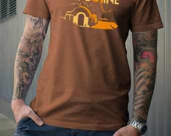 Star Wars Tatooine inspired design T Shirt