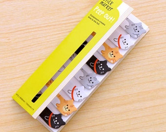 Cute Cat Sticky Notes / Peep Out Stick Marker / Cute Sticky Notes / Kawaii Sticky Notes / Post-It / Cute Animal Sticky Notes Tabs