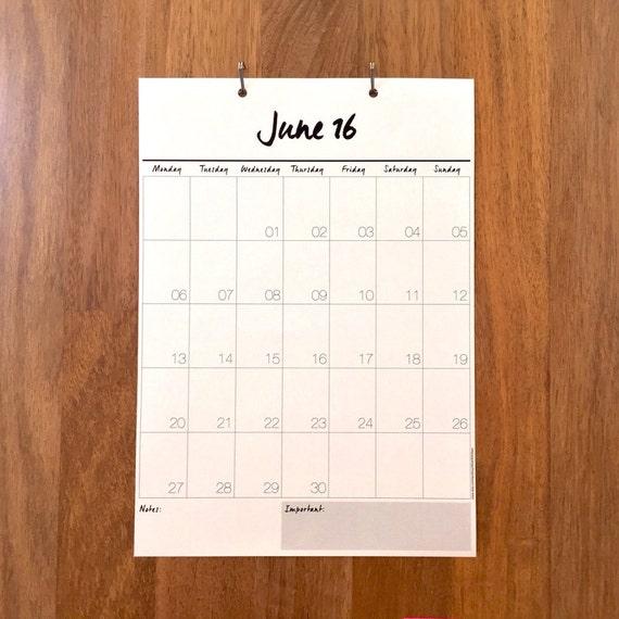 Hanging Planner Calendar : Wall calendar month hanging by