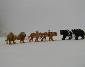 Lions and Tigers and Bears (oh my!) Earring Set