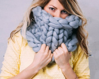 Chunky knit Scarf, Infinity Scarf, Chunky Infinity Scarf, Scarf, Chunky knits, Chunky yarn, Chunky knit scarf, Knitted Scarf