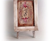 Wooden Table Numbers. Shabby Chic Table Numbers. Shabby Chic Wedding Decor. Table Decor. Shabby Chic Centerpiece Decor. Wedding Table Number