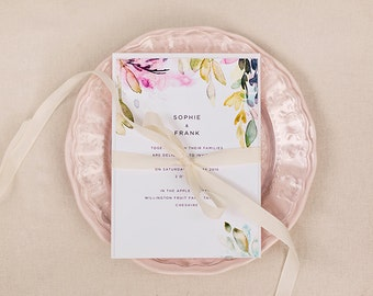 Nora Collection - Sample Pack - Floral Wedding Stationery