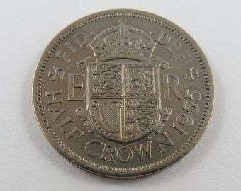 Great Britain 1955 Half Crown Coin.
