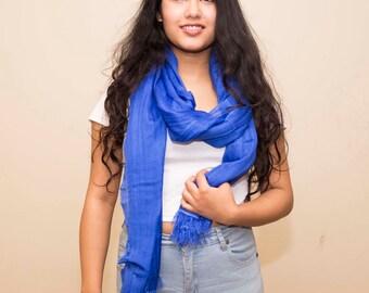 Genuine Nepali Woman Pashmina Cashmere Silk Blend Shawl/Wrap/Scarf Made from 'Changra Wool'