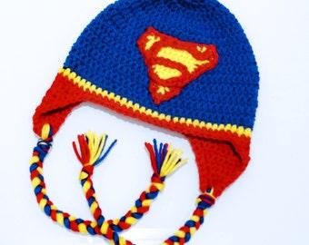 Crochet Superman Inspired Hat