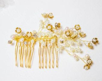 Custom bridal hair comb