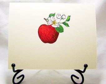 Red Apple Blank Card : Add a Greeting or Leave Blank