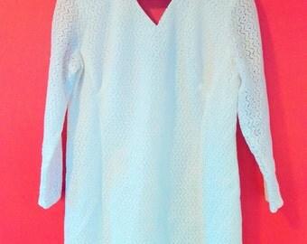 Groovy Vintage Plus size 60's White Mod Dress